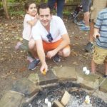Fall Fest smores around the campfire with Daddy