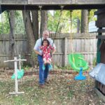 Grandpa and Lita are here! decoratetheworldtoday swing playset october outsidehellip